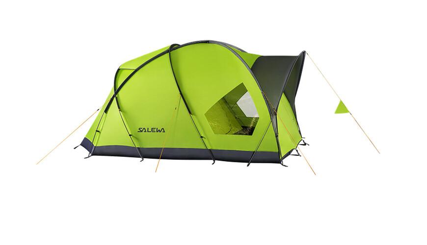 Salewa Alpine Hut IV Telt grå/grøn